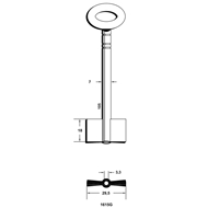 Polotovar trezorového klíče 1615G