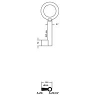 Polotovar nábytkového klíče A-2G CV