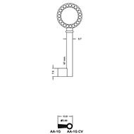 Polotovar nábytkového klíče AA-1G