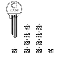 Polotovar klíče FB-20 4093/10
