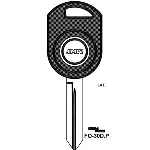 Polotovar klíče pro čip TP00FO-30DP Ford, Mazda