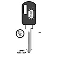 Polotovar klíče pro čip TP00GM-43P Chevrolet