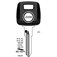 Polotovar klíče pro čip TP00NE-18P1 Volvo