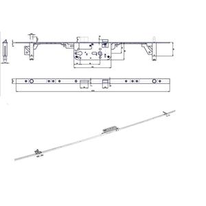 K 119 P-L zámek zadlabací
