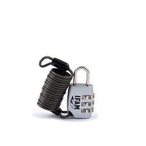 Zámek visací kódový s lankem C25S Cable