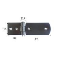 Závěs dveřní vrchní černěný 91x25mm