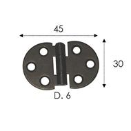 Závěs ozdobný 45x30mm černěný