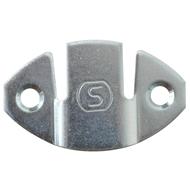 Úchyt skříněk oválný 43x26mm, tl. plechu 1,5mm