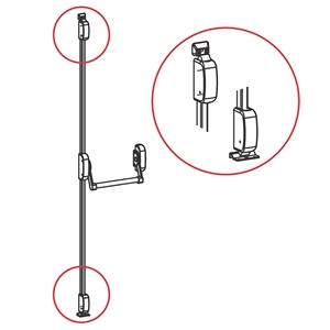 Panikové kování model 400, 2-bodové vertikální, výška dveří max. 2635 mm