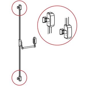 Panikové kování model 400, 2-bodové horizontální, výška dveří max. 2635 mm