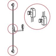 Panikové kování model 400, 3-bodové horizontální, výška dveří max. 2635 mm