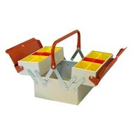 Box na nářadí kovový 3-dílný 260x220x200 mm červen