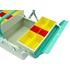 Box na nářadí kovový 3-dílný 260x220x200 mm modrý