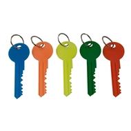 Klíčenka Klíč 12 cm s kroužkem průměr 30 mm, 25 ks