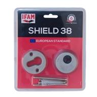 Bezpečnostní rozeta 38 mm, povrchová úprava Chrom mat
