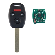Klíč s dálkovým ovladačem HONDA 3+1 tlačítka, 433 MHz, čip ID46 (HITAG2) PCF7961