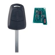 Klíč s dálkovým ovladačem OPEL Astra H 2 tlačítka 433 MHz, čip ID46 (HITAG2) PCF7941