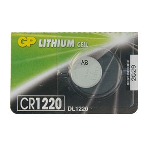 Baterie GP CR1220,  3V, 38mAh, Lithium, 12,5x2mm